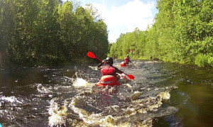 Tubing on the rapids